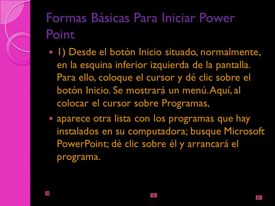 Formas Básicas Para Iniciar Power Point