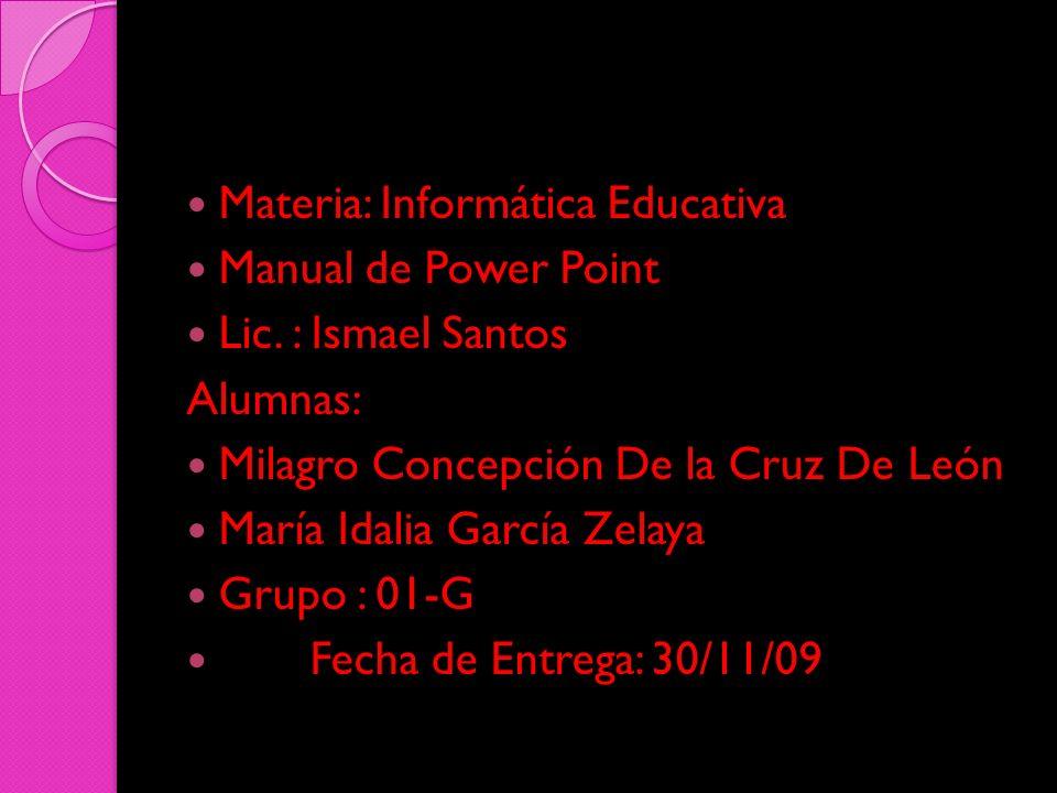 Materia: Informática Educativa