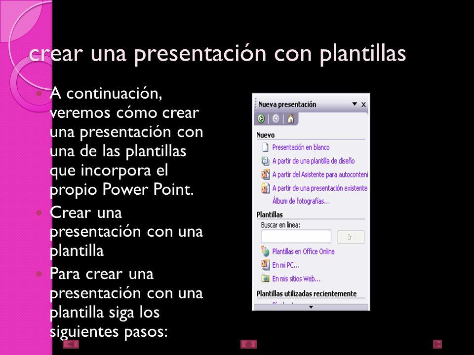 crear una presentación con plantillas