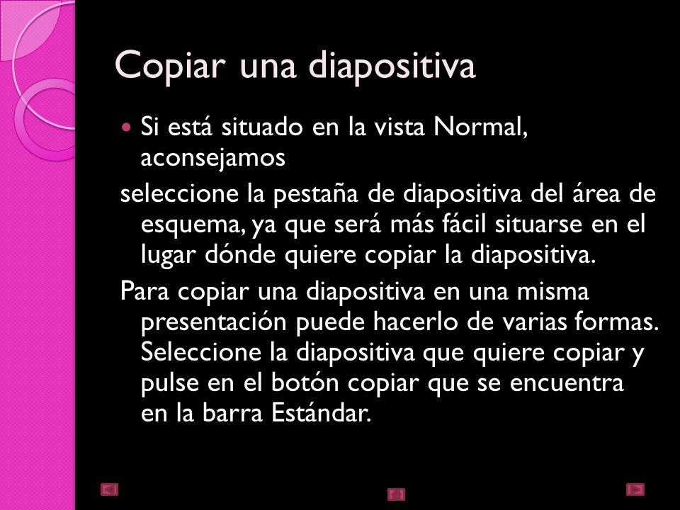 Copiar una diapositiva