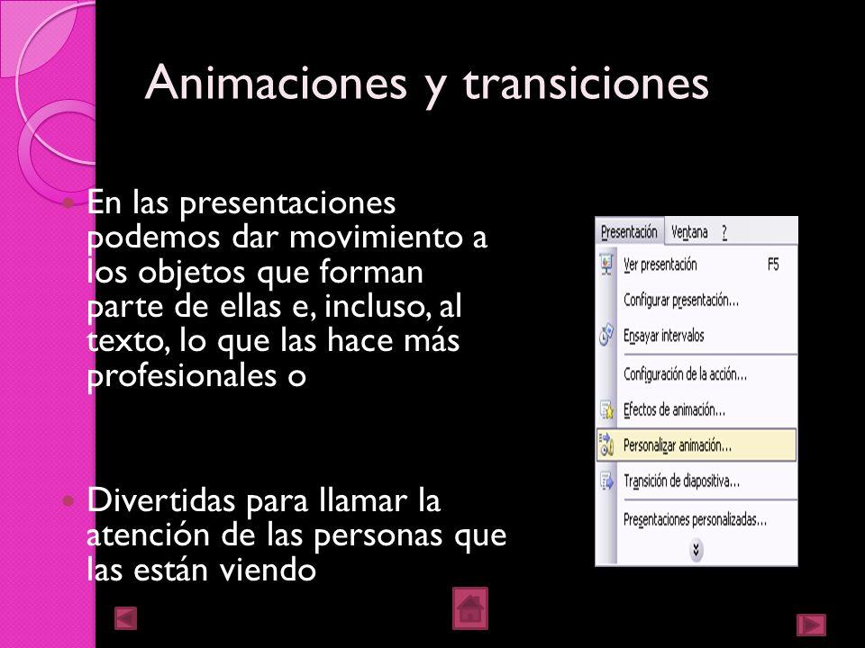 Animaciones y transiciones