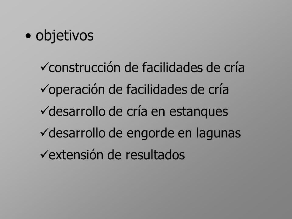 objetivos construcción de facilidades de cría
