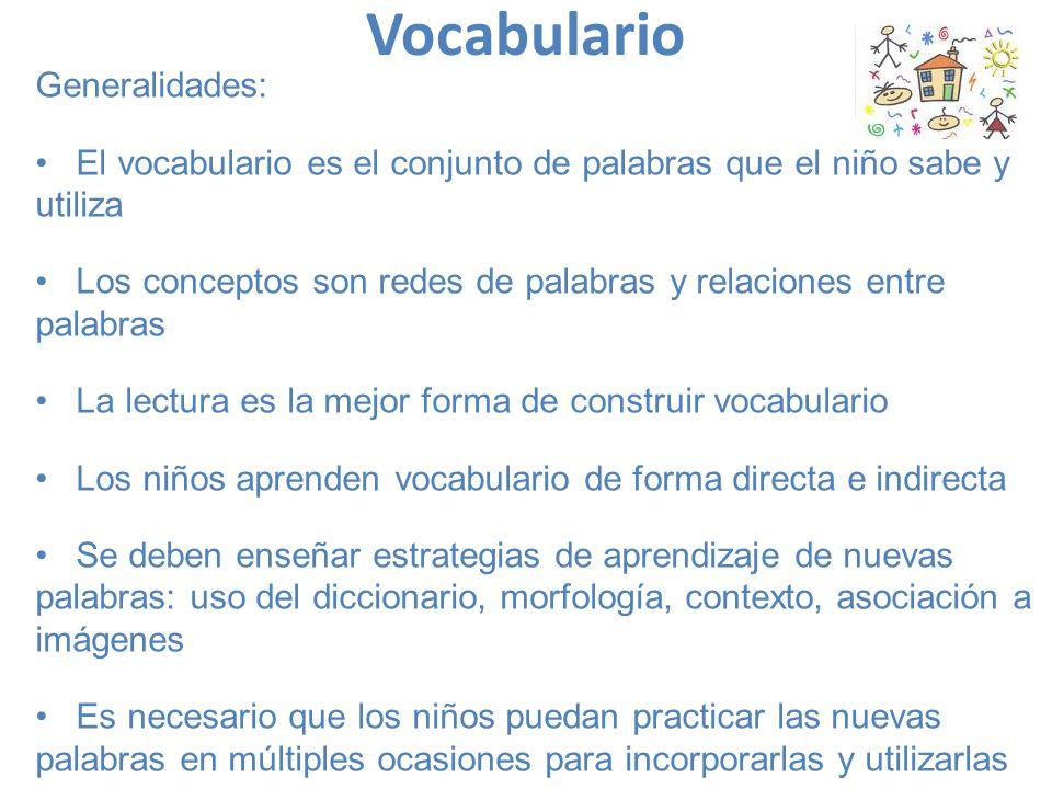 Vocabulario Generalidades: