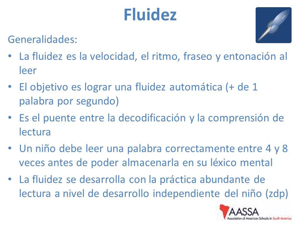 Fluidez Generalidades: