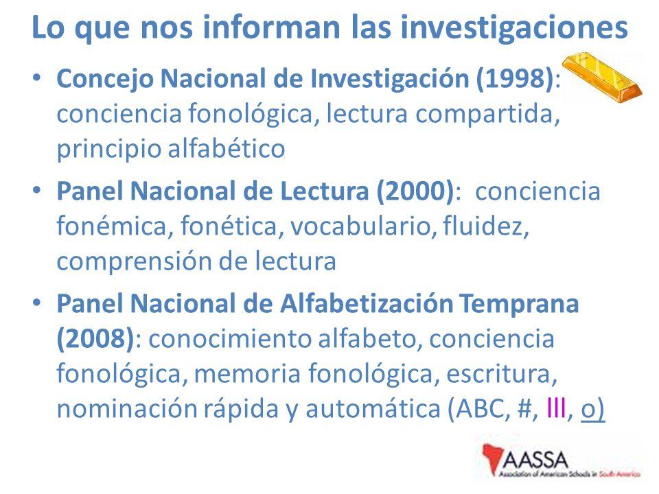 Lo que nos informan las investigaciones