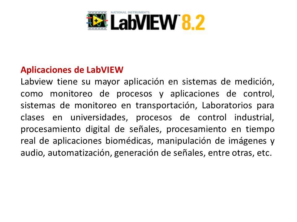Aplicaciones de LabVIEW