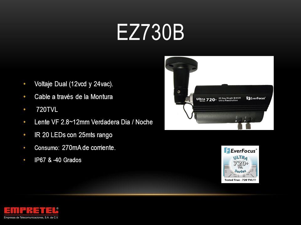 EZ730B Voltaje Dual (12vcd y 24vac). Cable a través de la Montura