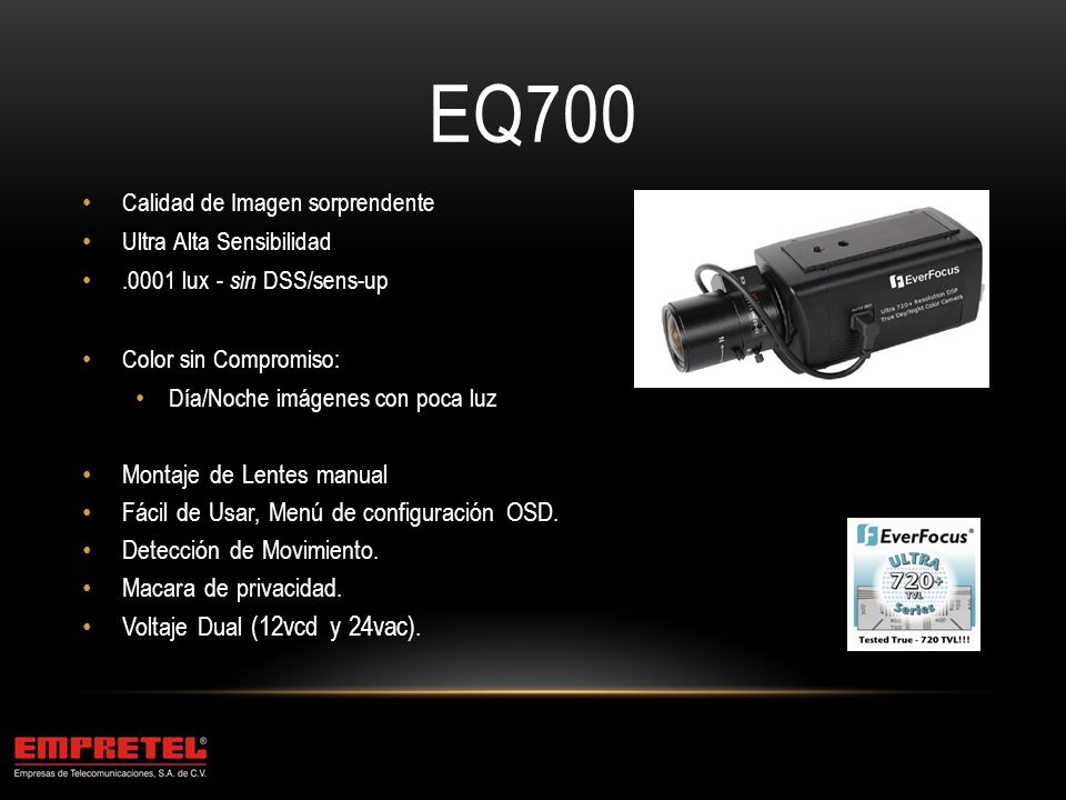 EQ700 Montaje de Lentes manual