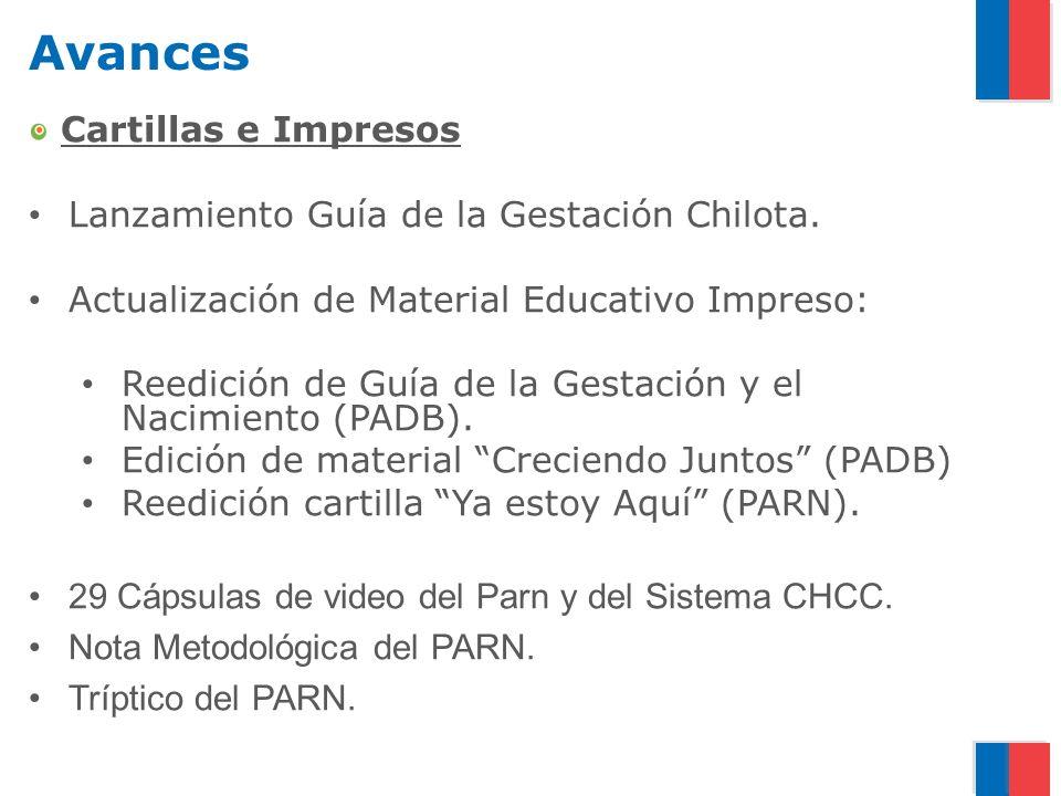 Avances Cartillas e Impresos Lanzamiento Guía de la Gestación Chilota.