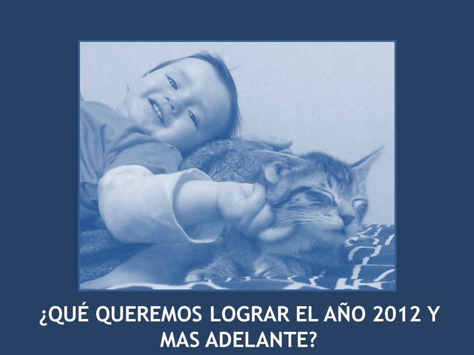 ¿QUÉ QUEREMOS LOGRAR EL AÑO 2012 Y MAS ADELANTE