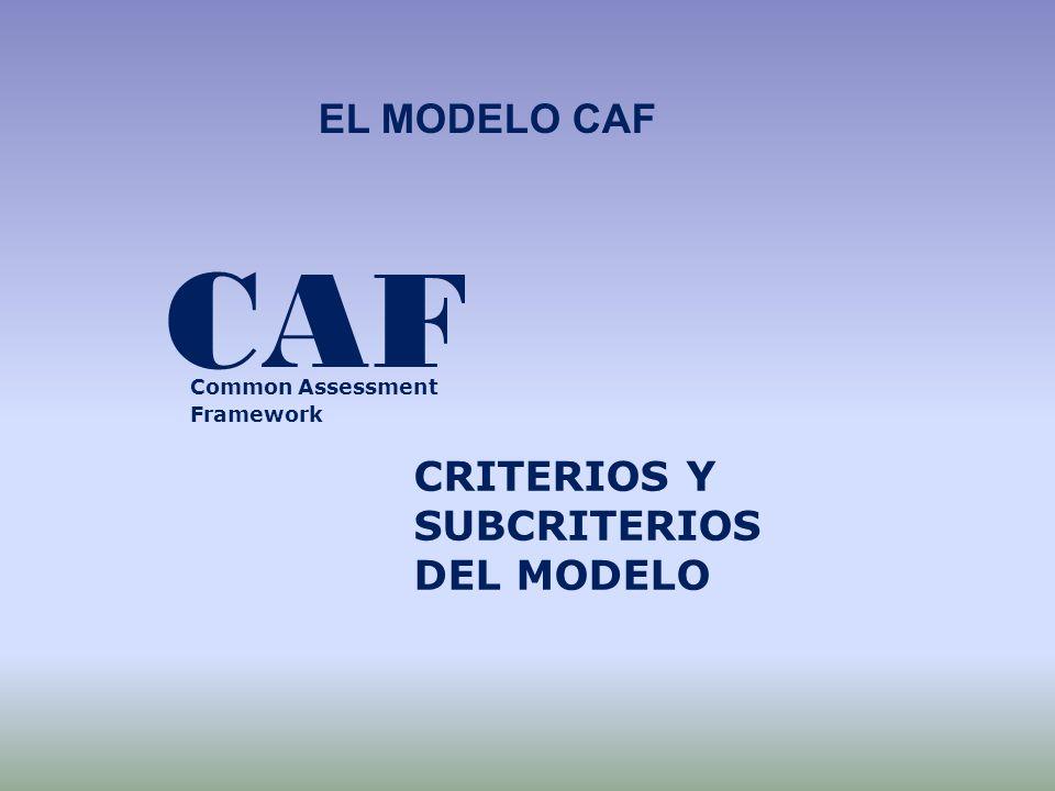 CAF EL MODELO CAF CRITERIOS Y SUBCRITERIOS DEL MODELO