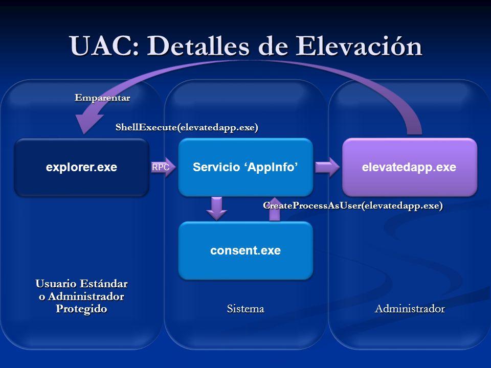 UAC: Detalles de Elevación