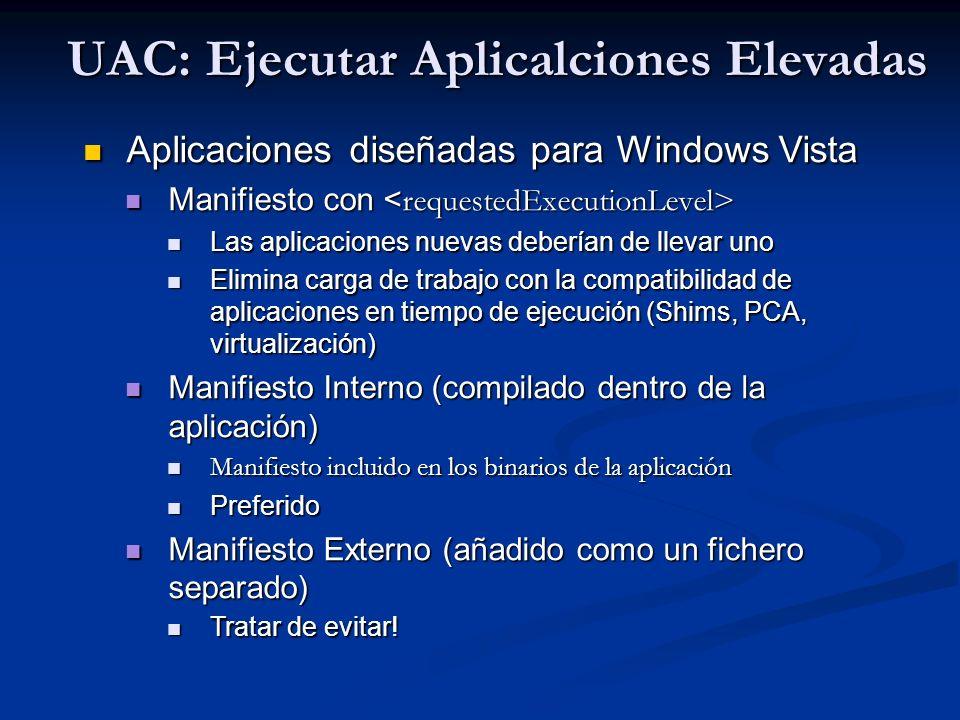 UAC: Ejecutar Aplicalciones Elevadas