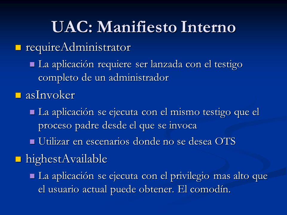 UAC: Manifiesto Interno
