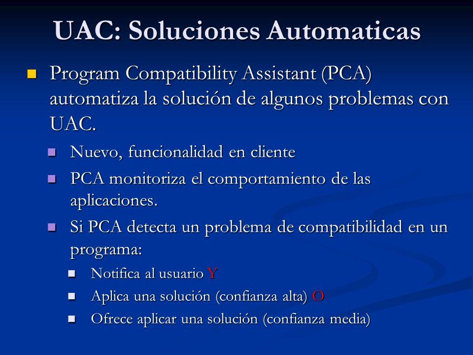 UAC: Soluciones Automaticas