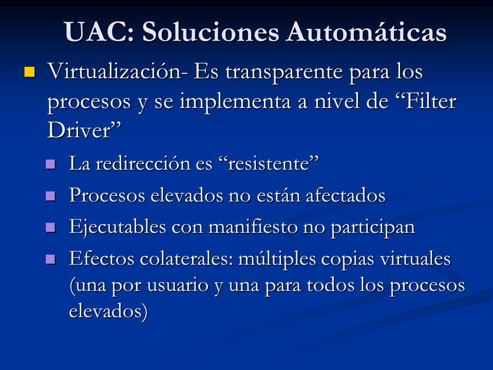 UAC: Soluciones Automáticas