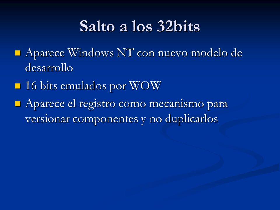 Salto a los 32bits Aparece Windows NT con nuevo modelo de desarrollo