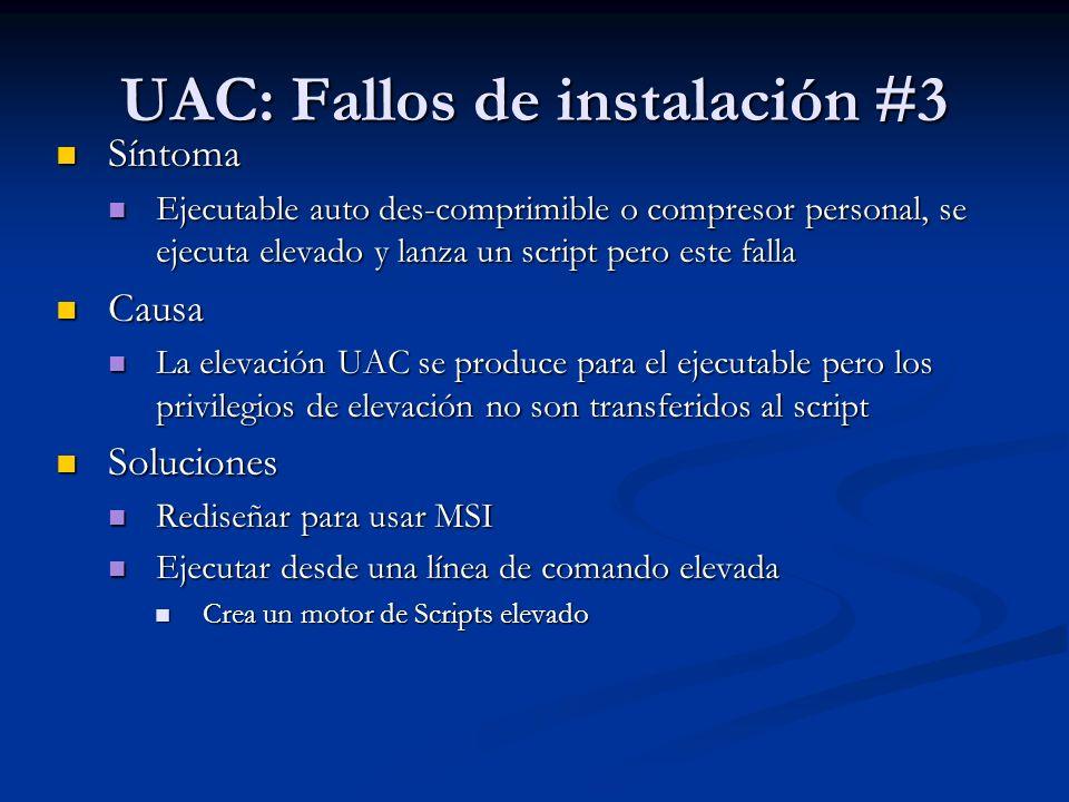 UAC: Fallos de instalación #3