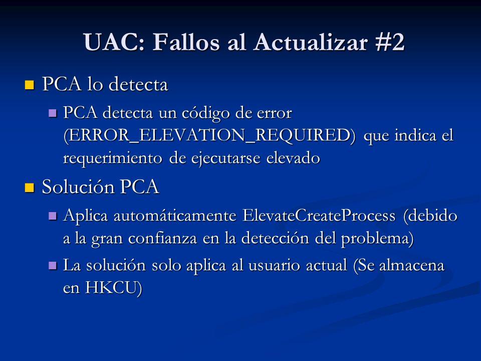 UAC: Fallos al Actualizar #2