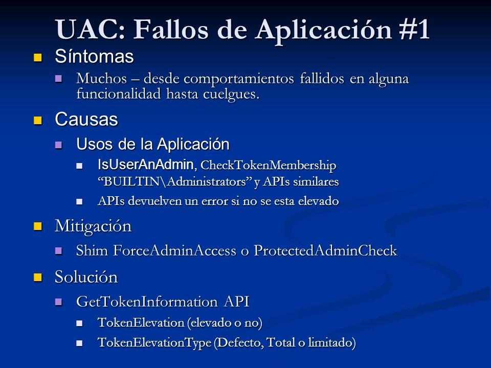 UAC: Fallos de Aplicación #1
