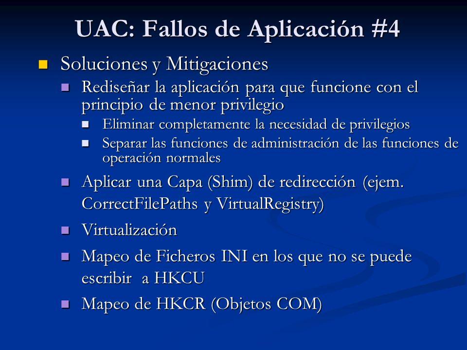 UAC: Fallos de Aplicación #4