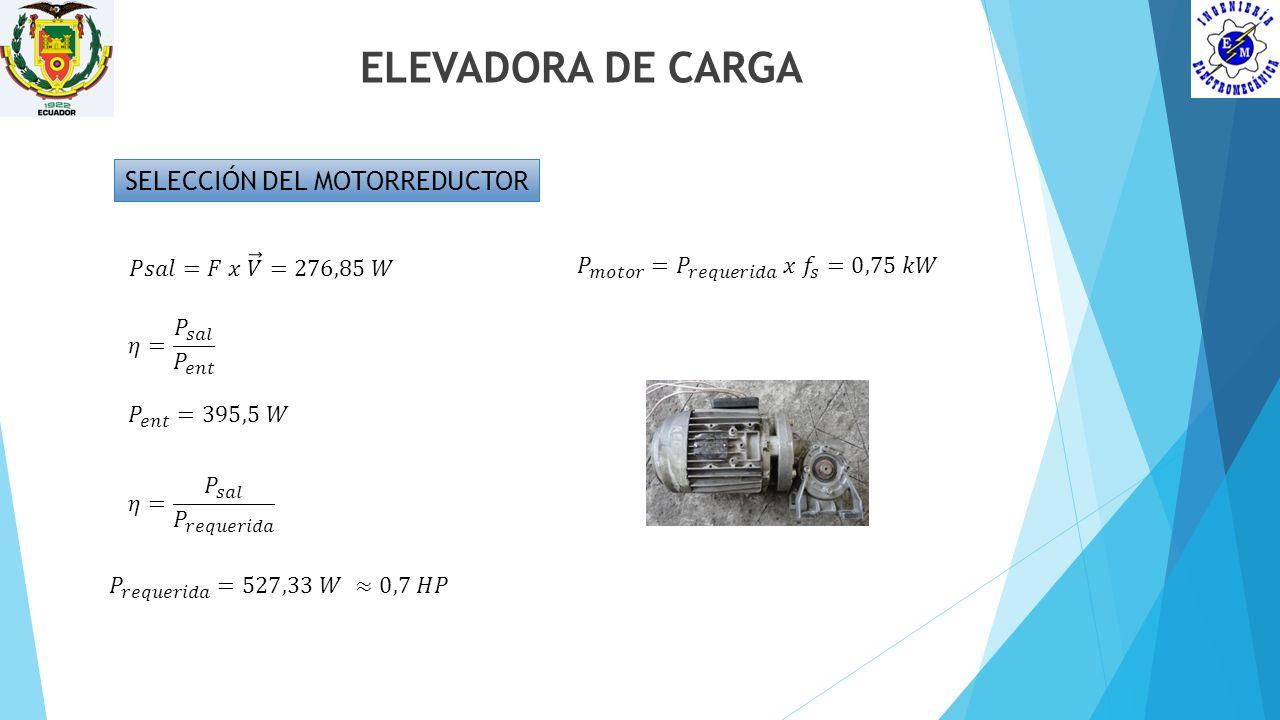 SELECCIÓN DEL MOTORREDUCTOR