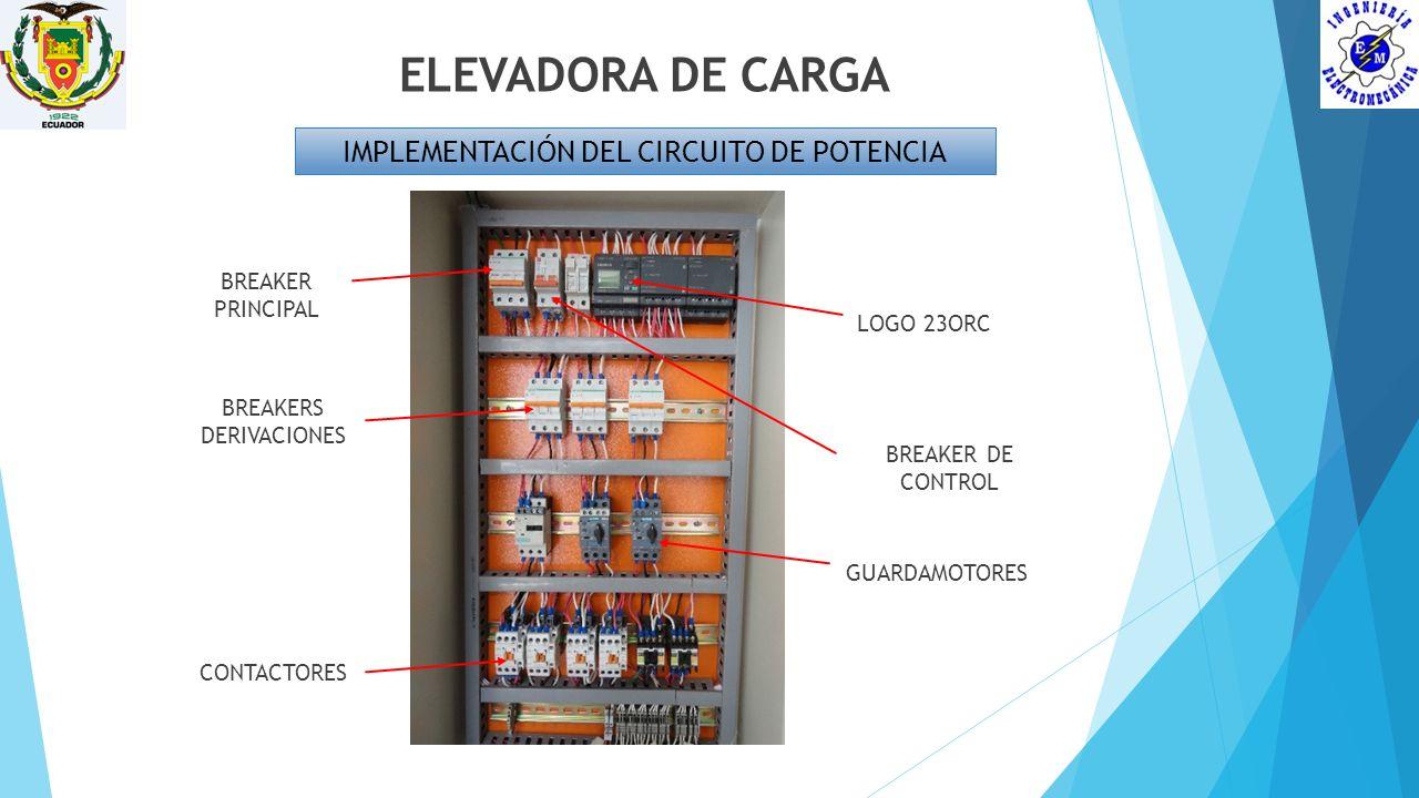 ELEVADORA DE CARGA IMPLEMENTACIÓN DEL CIRCUITO DE POTENCIA