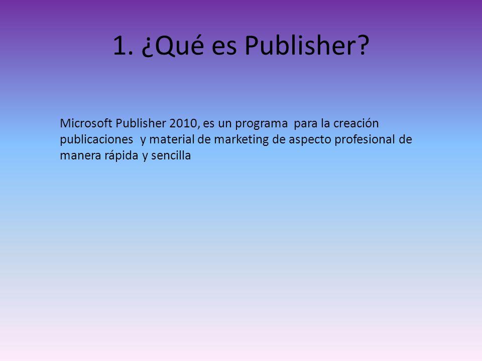 1. ¿Qué es Publisher