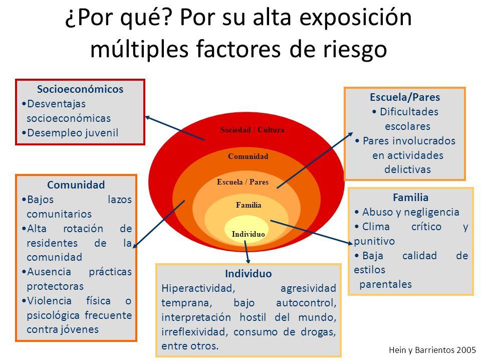 ¿Por qué Por su alta exposición múltiples factores de riesgo
