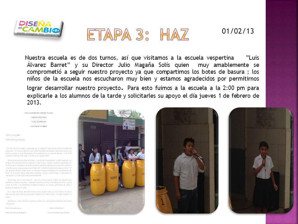 ETAPA 3: HAZ 01/02/13.