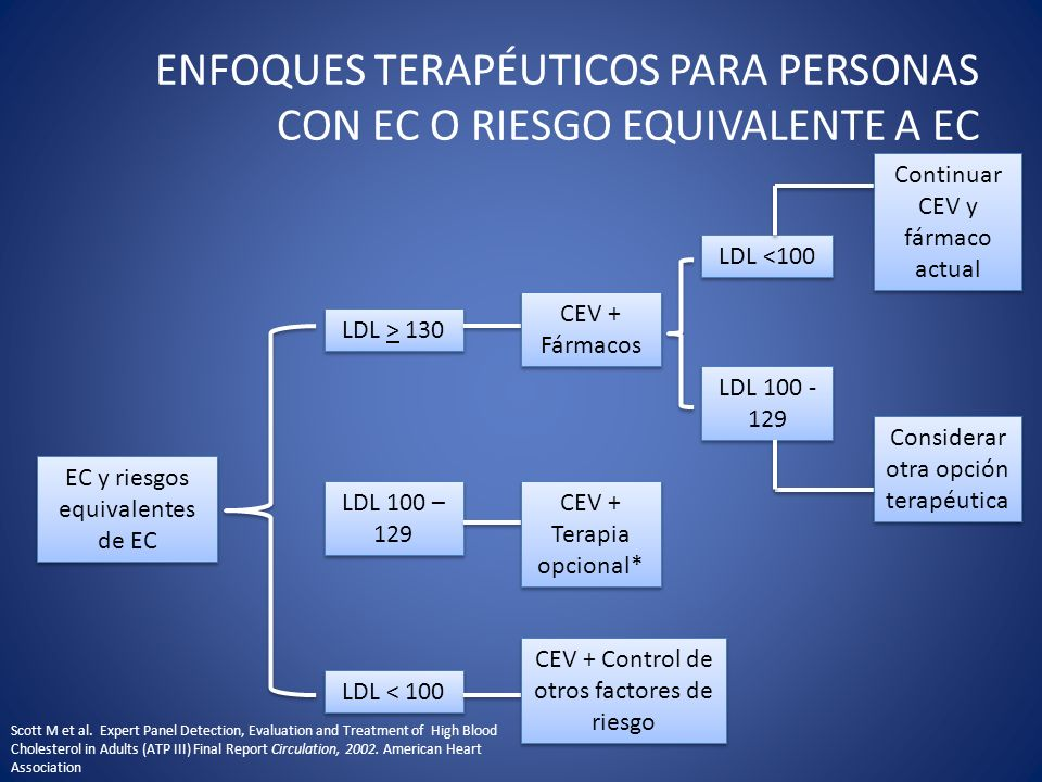 ENFOQUES TERAPÉUTICOS PARA PERSONAS CON EC O RIESGO EQUIVALENTE A EC
