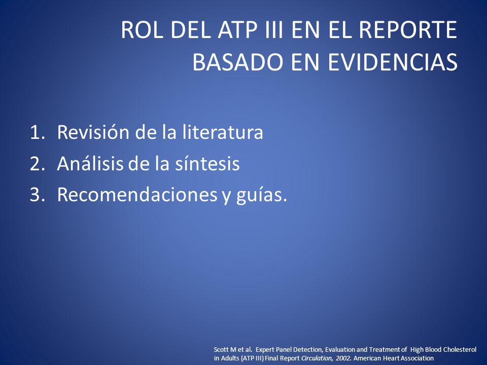 ROL DEL ATP III EN EL REPORTE BASADO EN EVIDENCIAS