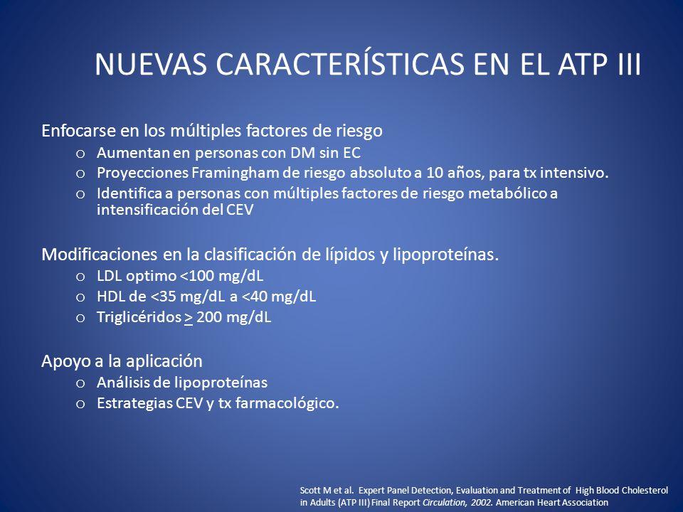 NUEVAS CARACTERÍSTICAS EN EL ATP III