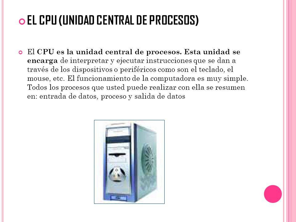 EL CPU (UNIDAD CENTRAL DE PROCESOS)