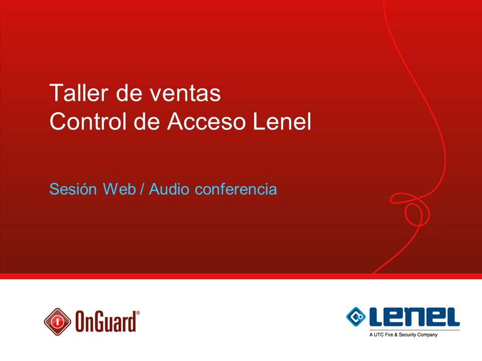 Taller de ventas Control de Acceso Lenel
