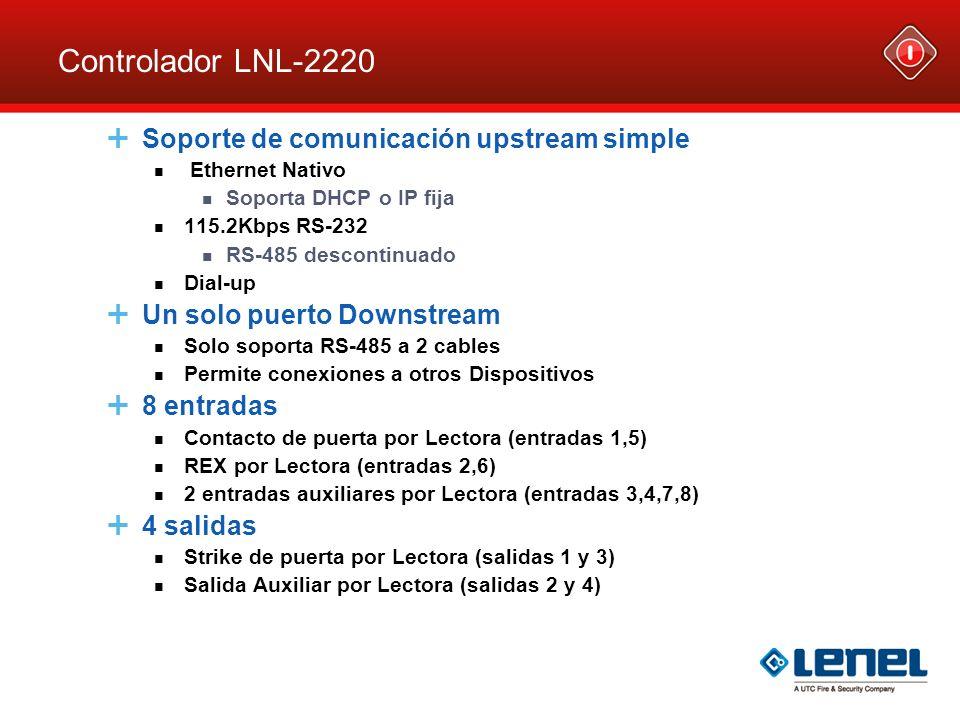 Controlador LNL-2220 Soporte de comunicación upstream simple