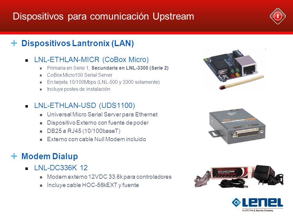 Dispositivos para comunicación Upstream