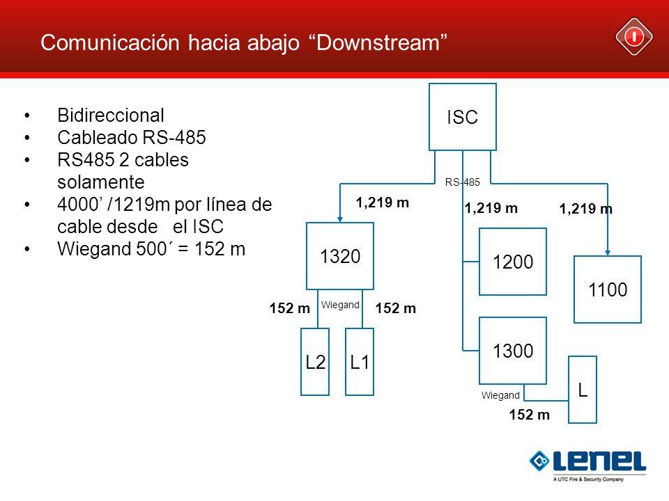 Comunicación hacia abajo Downstream