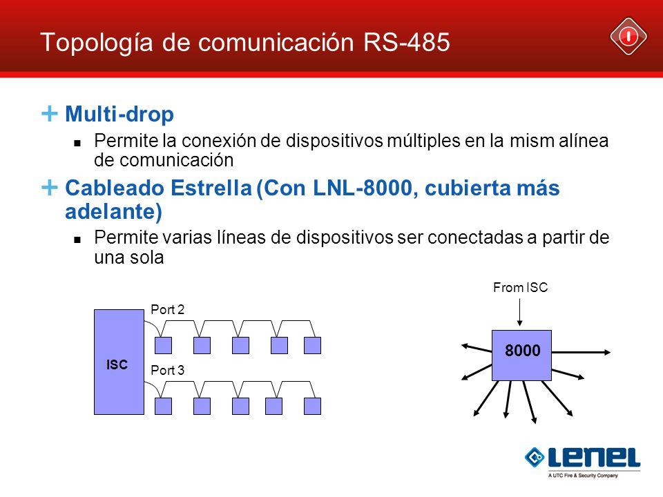 Topología de comunicación RS-485