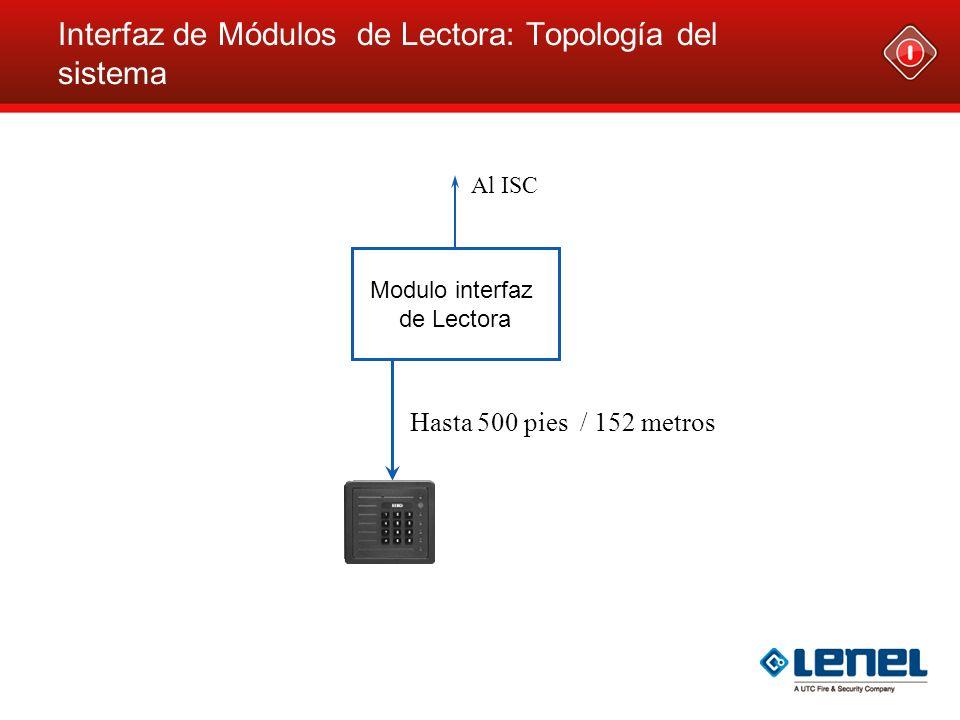 Interfaz de Módulos de Lectora: Topología del sistema