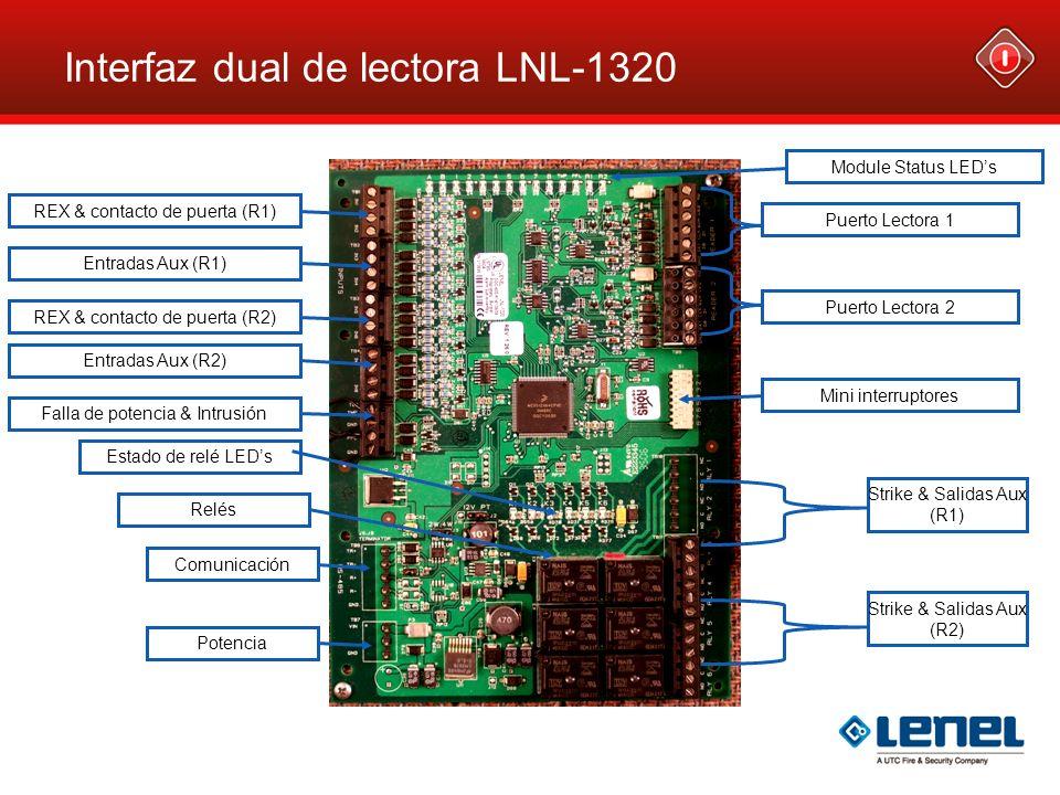 Interfaz dual de lectora LNL-1320