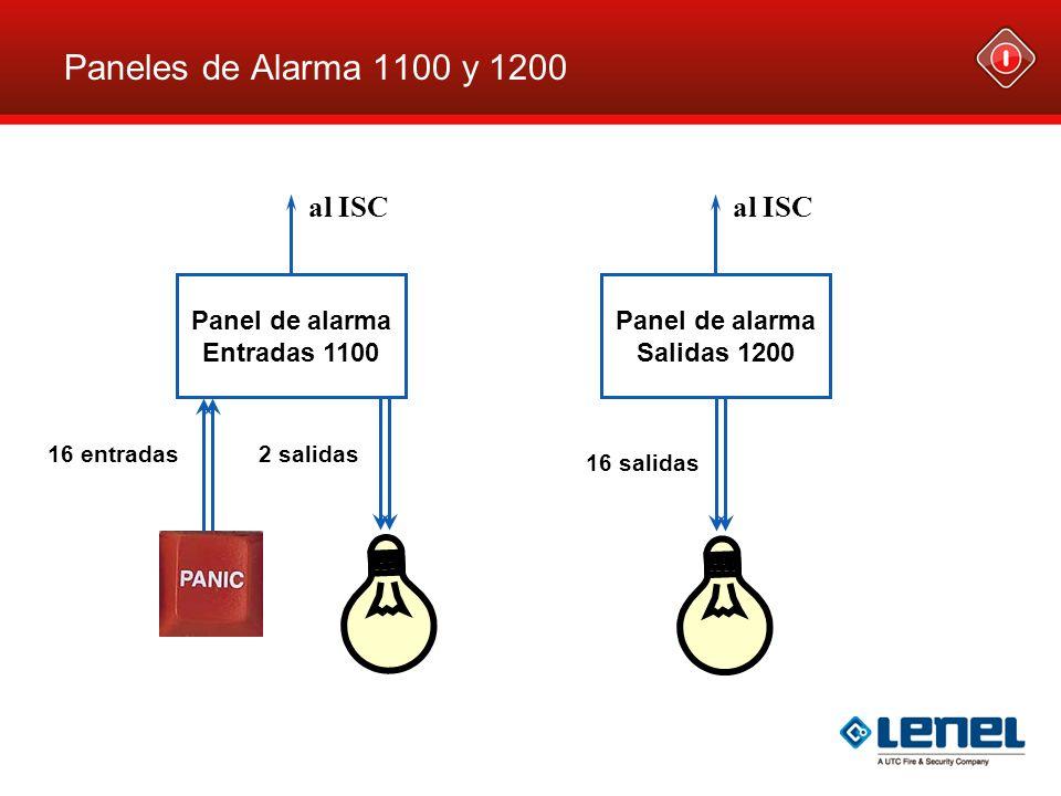 Paneles de Alarma 1100 y 1200 al ISC al ISC Panel de alarma