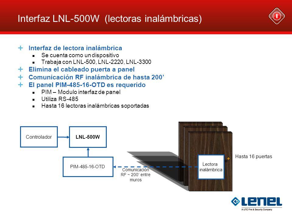 Interfaz LNL-500W (lectoras inalámbricas)