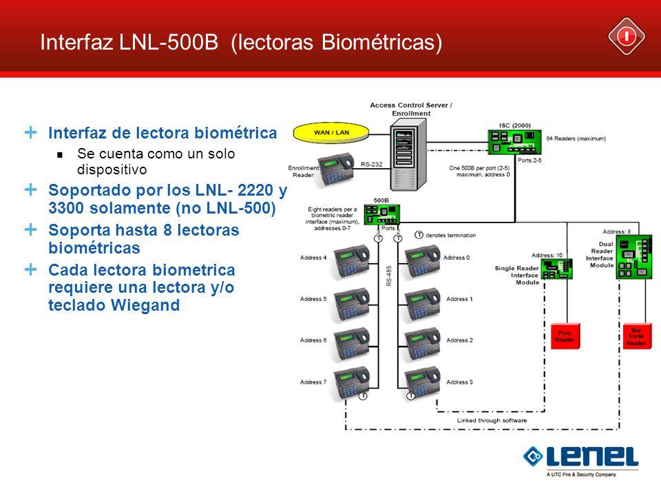 Interfaz LNL-500B (lectoras Biométricas)