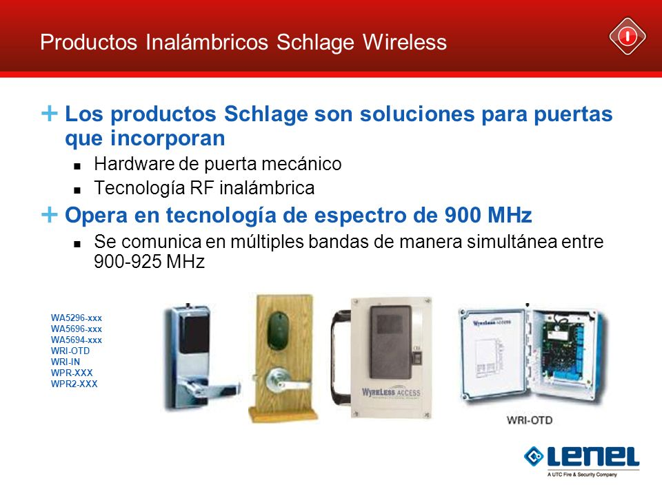 Productos Inalámbricos Schlage Wireless