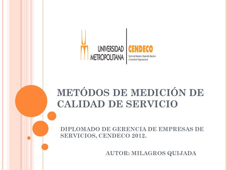 METÓDOS DE MEDICIÓN DE CALIDAD DE SERVICIO