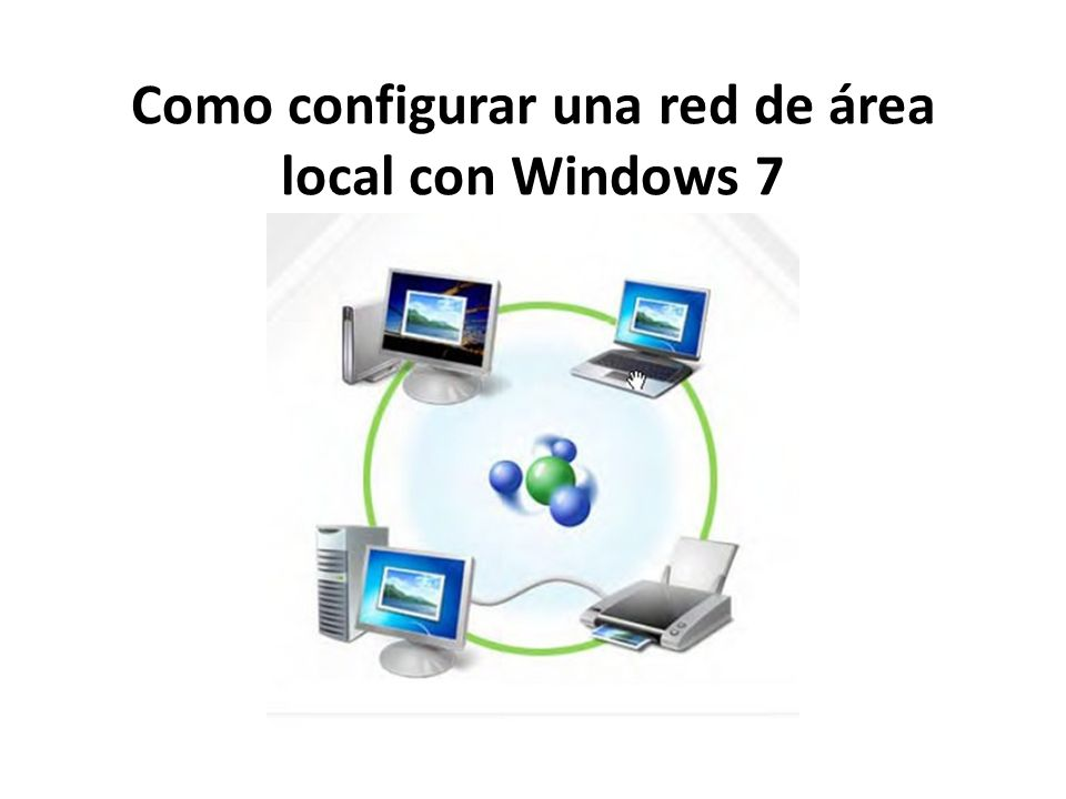 Como configurar una red de área local con Windows 7