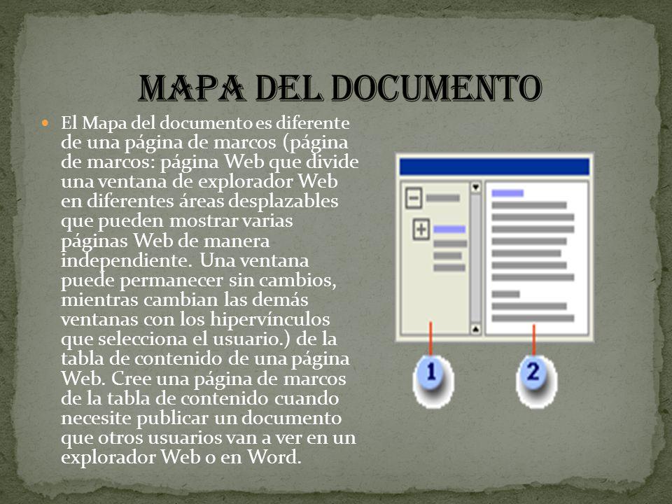 mapa del documento