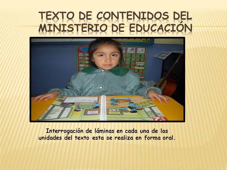 Texto de contenidos del ministerio de educación
