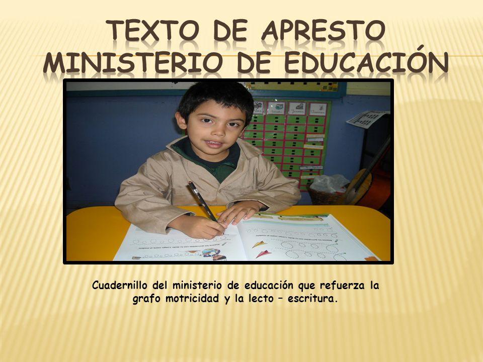 Texto de apresto ministerio de educación